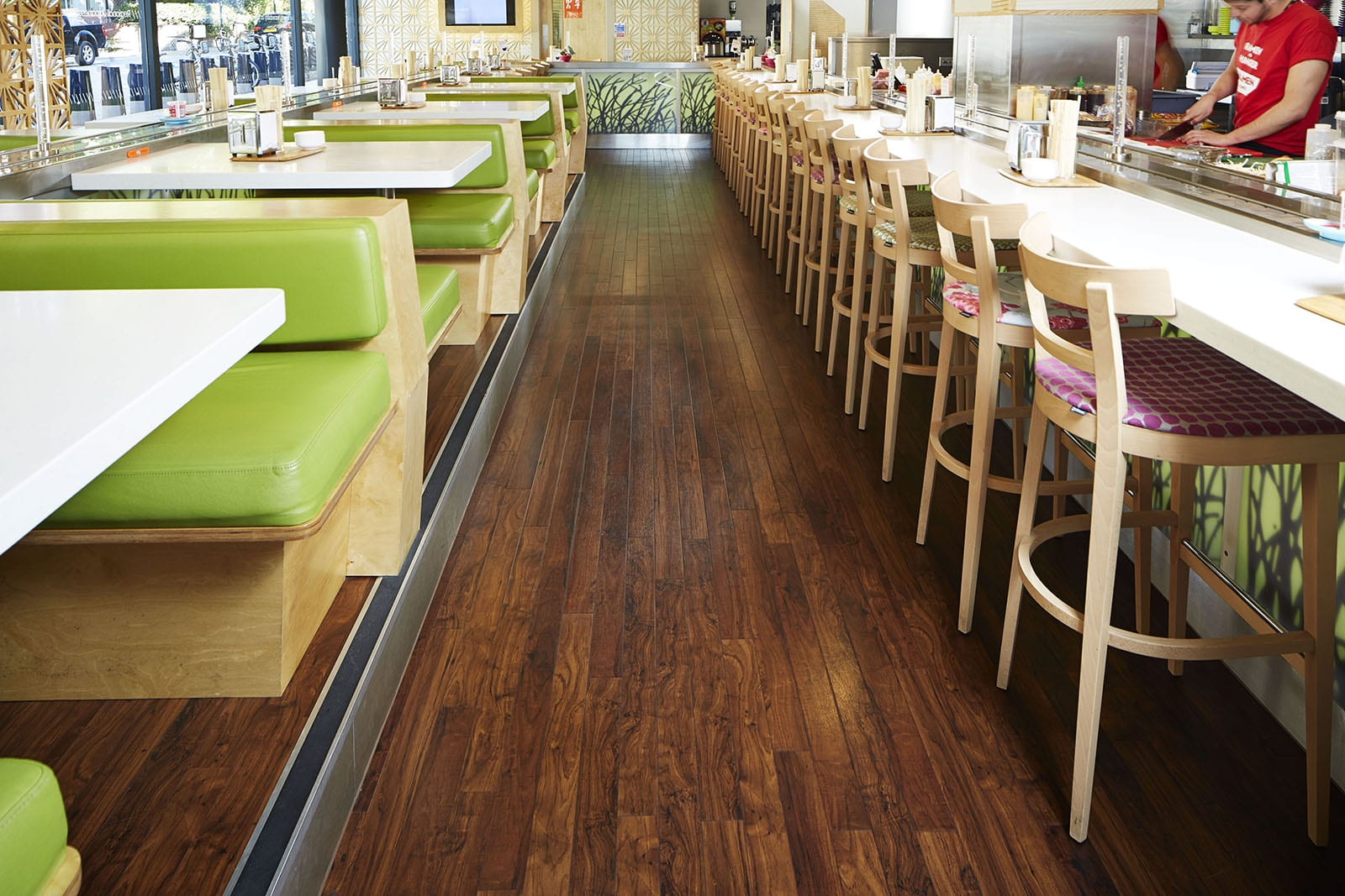 high gloss laminate flooring for restaurant